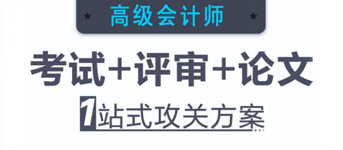 2019高级会计师 考试+评审+论文 1站式攻关方案